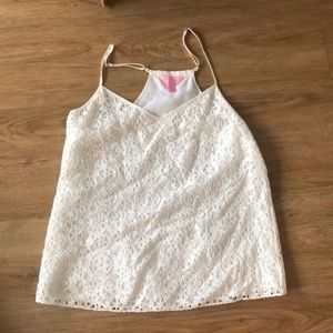 Like new Lilly  pulitzer lace racer back tank